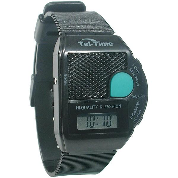 mens gold talking watch black dial square iii talking wrist watch