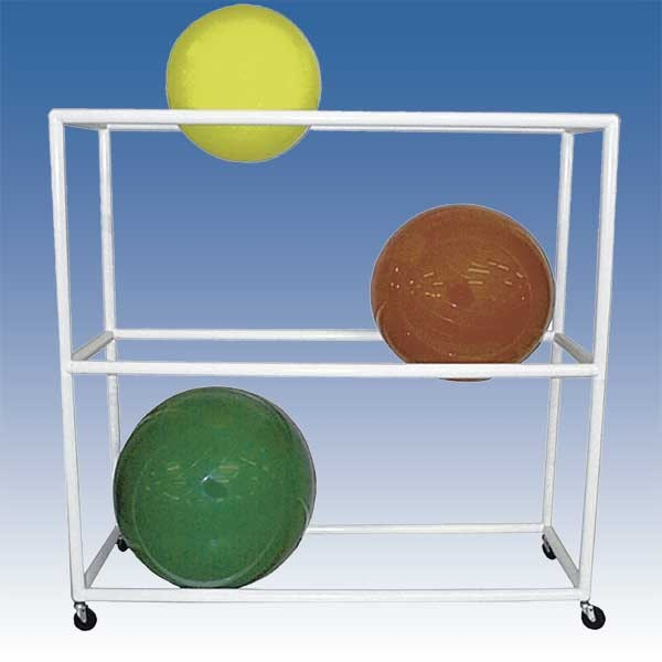 Stability Ball Wall Rack: Stainless Therapy Ball Wall Rack